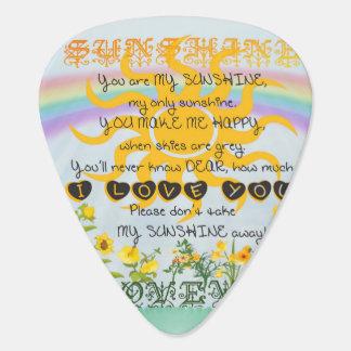Usted es mi sol plumilla de guitarra