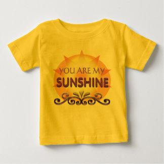 Usted es mi sol para el bebé playera de bebé