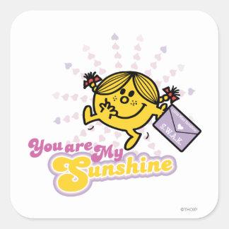 Usted es mi sol pegatinas cuadradas