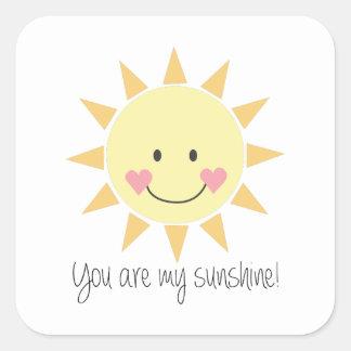 ¡Usted es mi sol! Pegatina Cuadrada