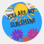 Usted es mi sol pegatina redonda