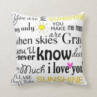Usted es mi sol que usted es mi sol cojín