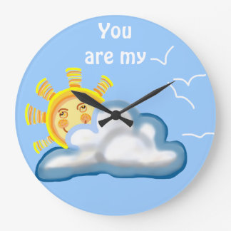 Usted es mi sol reloj redondo grande