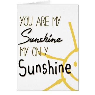 Usted es mi sol tarjeta
