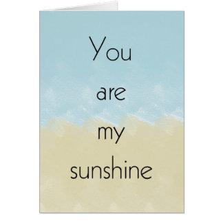Usted es mi sol tarjeton