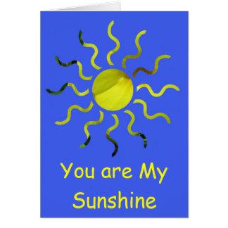 Usted es mi sol tarjetas