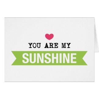 Usted es mi sol tarjeta de felicitación