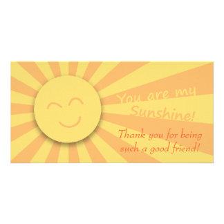 ¡Usted es mi sol! Tarjeta Fotográfica Personalizada
