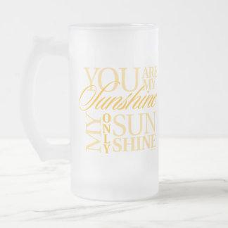 Usted es mi sol taza cristal mate