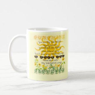 Usted es mi sol tazas de café