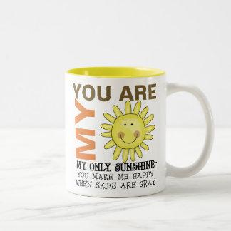 Usted es mi sol taza de dos tonos