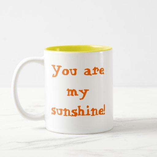 ¡Usted es mi sol! Taza Dos Tonos