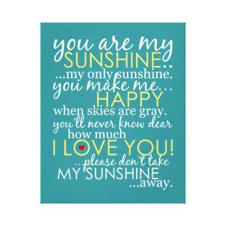 Usted es mi sol - trullo - lona envuelta impresion de lienzo