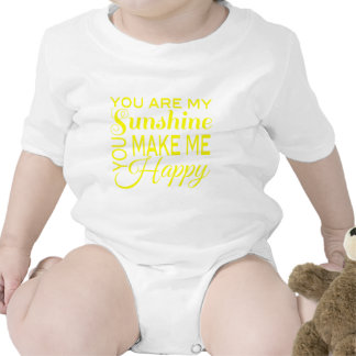 Usted es mi sol, usted me hace feliz trajes de bebé