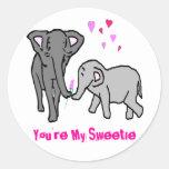 Usted es mi Sweetie Etiqueta Redonda
