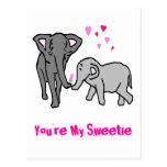 Usted es mi Sweetie Postal