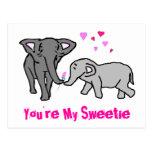 Usted es mi Sweetie Tarjeta Postal