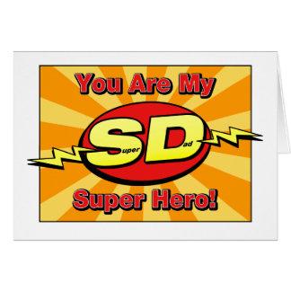 Usted es mi tarjeta del día de padre del superhéro