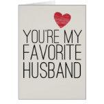 Usted es mi tarjeta divertida del amor del marido