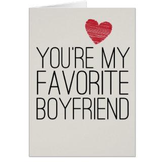 Usted es mi tarjeta divertida del amor del novio p
