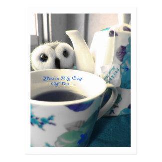 Usted es mi taza de postal del té