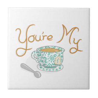 Usted es mi taza de té tejas  ceramicas