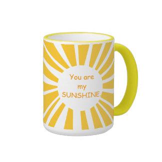 Usted es mi taza del campanero de la sol