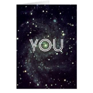 Usted es mi universo tarjeta de felicitación