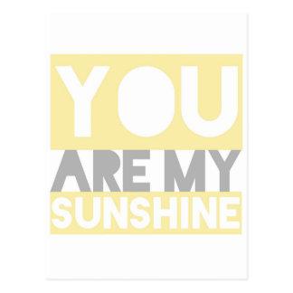 Usted es mis letras de la sol postal