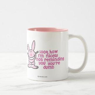 Usted es mudo taza de café de dos colores