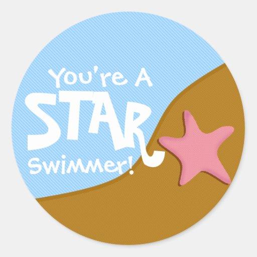 ¡Usted es nadador de la estrella! Pegatina