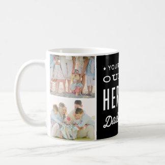 Usted es nuestro collage de la foto del papá del taza clásica