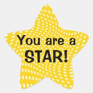 Usted es pegatinas de una recompensa de la pegatina en forma de estrella