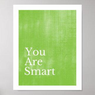 Usted es poster elegante póster