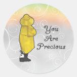 Usted es precioso pegatinas redondas