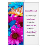 Usted es siempre… amistad agradable tarjetón