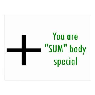 Usted es special del cuerpo de la SUMA Tarjetas Postales