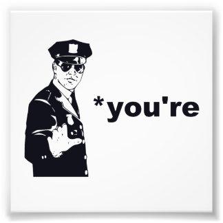 Usted es su policía de la gramática fotografías