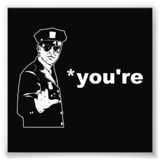 Usted es su policía de la gramática arte fotográfico