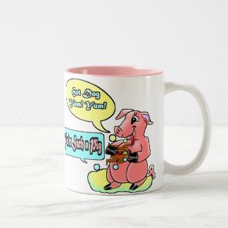 Usted es tal cerdo tazas de café