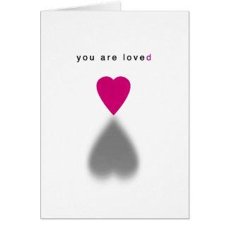 Usted es tarjeta amada
