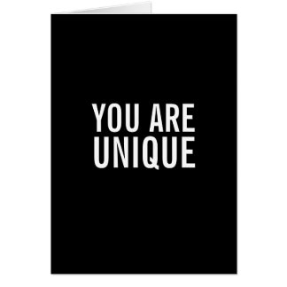 Usted es tarjeta de felicitación divertida única