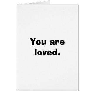 Usted es tarjeta de nota amada