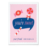 """Usted es tarjeta del día de San Valentín dulce de Invitación 3.5"""" X 5"""""""