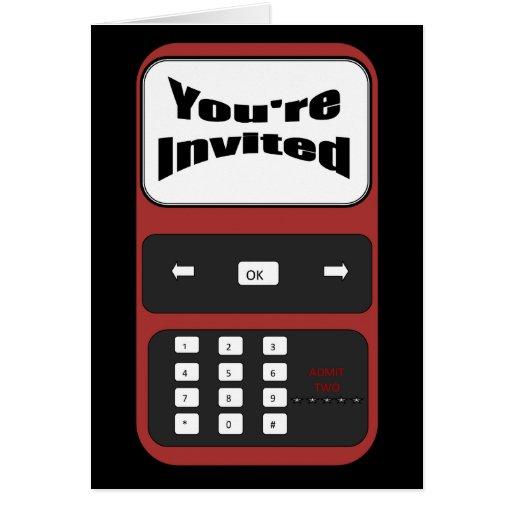usted es tarjeta invitada de la invitación del tel