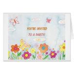 Usted es tarjeta invitada del fiesta
