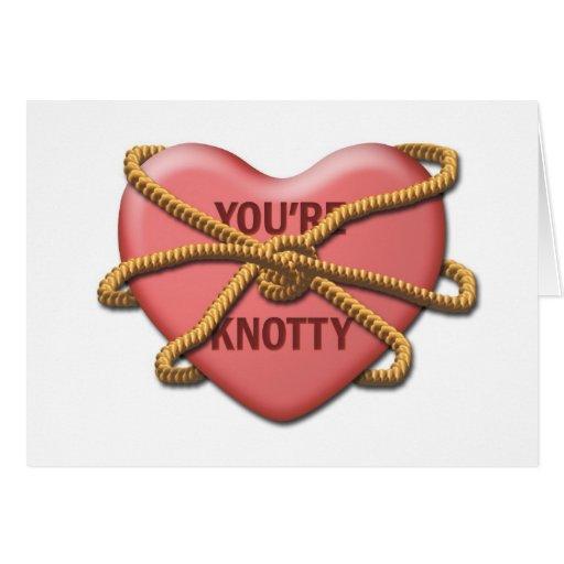 """""""Usted es"""" tarjeta nudosa de la tarjeta del día de"""