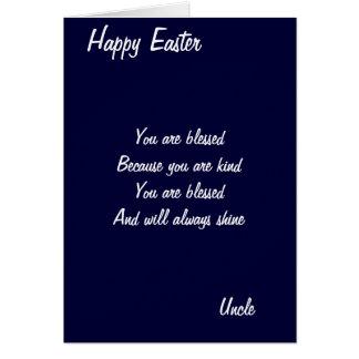 Usted es tarjetas de bendecir-tío pascua
