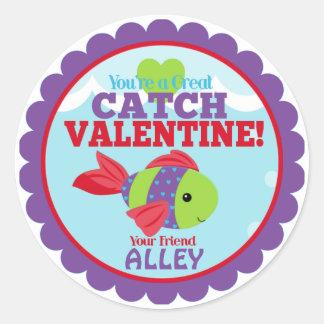 Usted es tarjetas del día de San Valentín grandes Pegatina Redonda