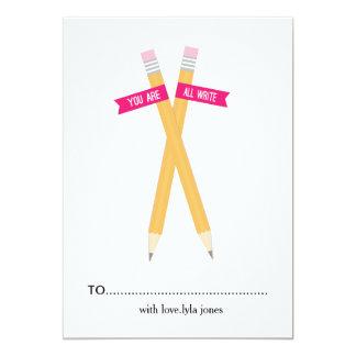 """Usted es todo escribe la tarjeta del día de San Invitación 5"""" X 7"""""""